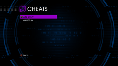 Cheats menu in Saints Row IV