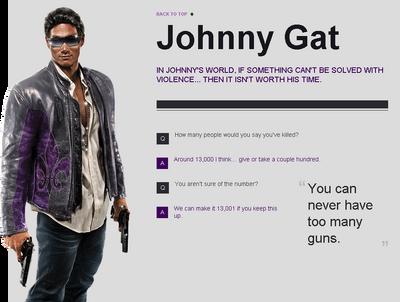 Saints Row website - Gangs - The Saints - Johnny Gat