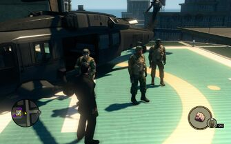 SNG soldiers - 3 on helipad in Saints Row The Third
