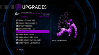 Upgrades menu in Saints Row IV - Page 5 of Gang Abilities