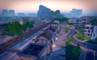 Sommerset in Saints Row 2 - view of Mt Claflin