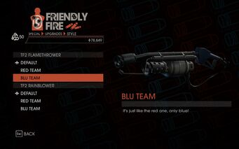 Weapon - Special - Incinerator - TF2 Flamethrower - Blu Team