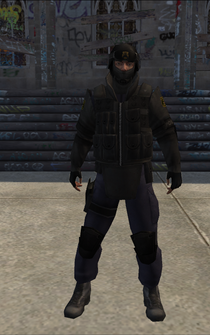 SWAT-01 - shorter arms - character model in Saints Row