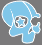 Deckers small skull logo