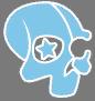 Deckers small skull logo