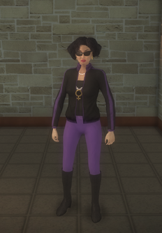 Gang Customization - 80s - female lieutenant - asian