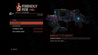 Weapon - Special - Abduction Gun - Upgrades