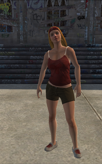 Los Carnales female Thug1-01 B - white - character model in Saints Row