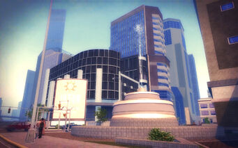 Mission Beach in Saints Row 2 - fountain