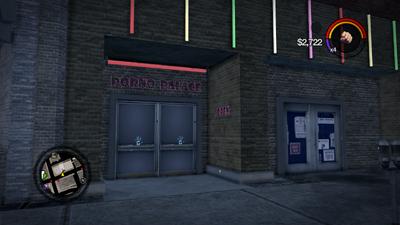 Porno palace entrance