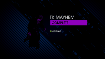 TK Mayhem Completion Screen - Saints Row IV