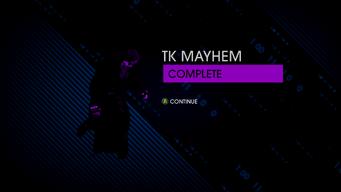 TK Mayhem Completion Screen - Saints Row IV