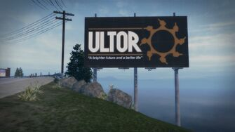 Ultor - A brighter future and a better life billboard in Misty Lane