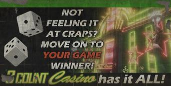 3 Count Casino - Craps billboard