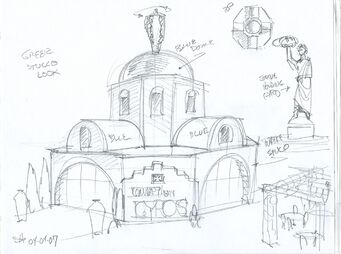 Company of Gyros Concept Art 02 - Greek Stucco Look