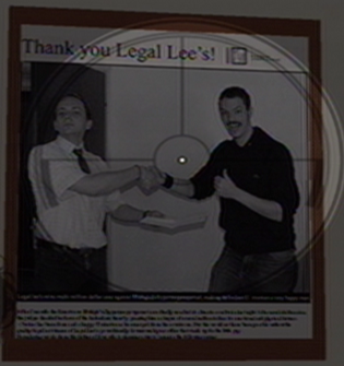 Legal Lees interior framed newspaper