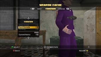 Saints Row Weapon Cache - Thrown - Hand Grenade flip