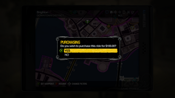 Taxi Service - purchasing ride in Saints Row 2