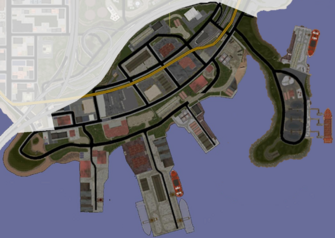 Docks & Warehouses map in Saints Row