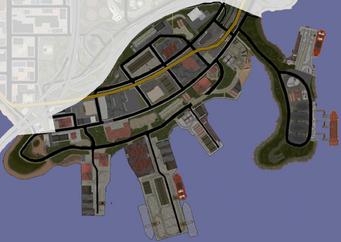 Docks & Warehouses map in Saints Row