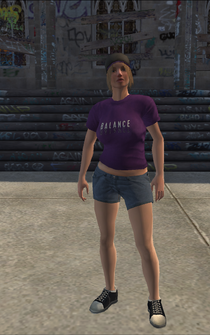 Saints female Thug-03 - white - character model in Saints Row