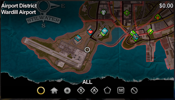 Wardill Airport map in Saints Row