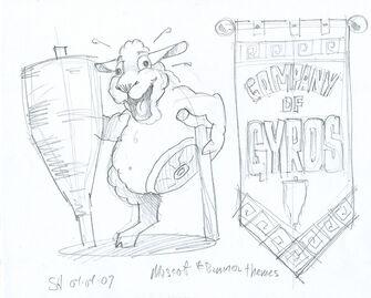 Company of Gyros Concept Art 03 - Mascot & Banner theme