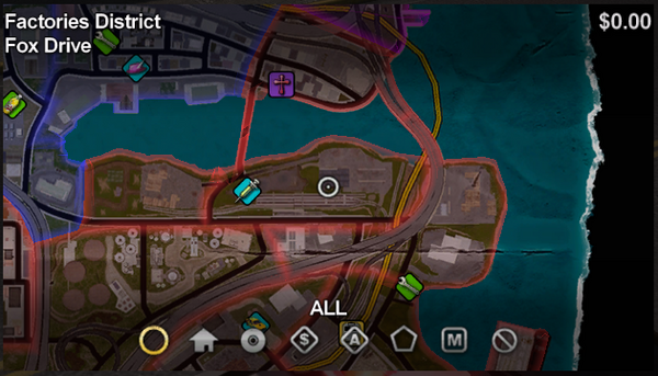 Fox Drive map in Saints Row