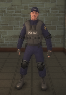SWAT - white - character model in Saints Row 2