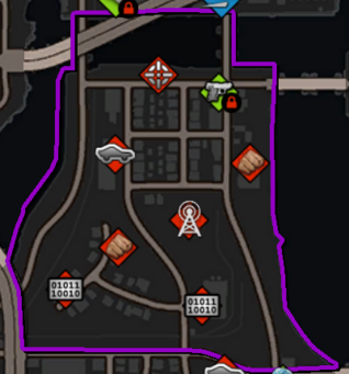 The Grove map in Saints Row IV