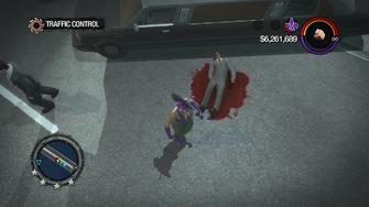 Traffic Control - dead Limo driver