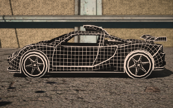 Saints Row IV variants - Wireframe Peacemaker Chopshop - side