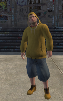 Vice Kings male THUG1-02 - White hood - character model in Saints Row