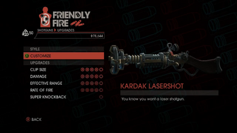 Weapon - Shotguns - Pump-Action Shotgun - Upgrades