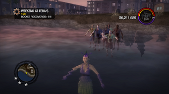Weekend at Tera's - bodies treading water before failure