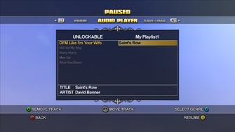 Audio Player playlist editor