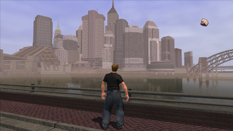 Downtown Stilwater view from Red Light in Saints Row