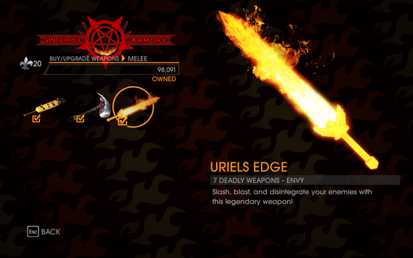 Gat out of Hell - 7 Deadly Weapons - Envy