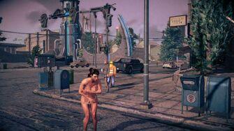 Naked Female Playa in Saints Row IV