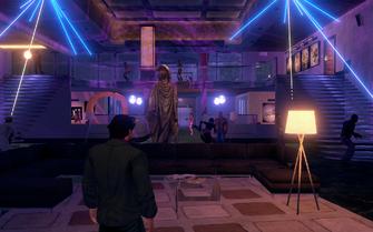Saints HQ party lights