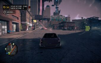 Cat and Mouse in Saints Row IV - driving Attrazione