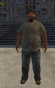 PoorHeavy male - black - character model in Saints Row