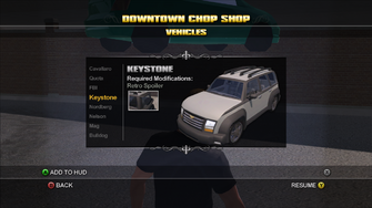Saints Row Chop Shop - Downtown - Keystone