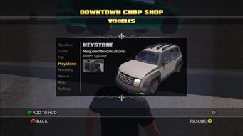 Saints Row Chop Shop - Downtown - Keystone