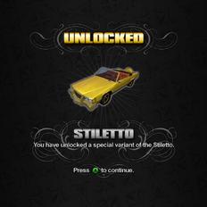 Saints Row unlockable - Vehicles - Stiletto