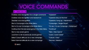 Voice Commands Page 1 - Saints Row IV Re-Elected