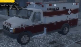 Ambulance - front left in Garage in Saints Row 2