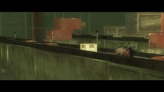 Eternal Sunshine - Mr Sunshine's head on a conveyor belt