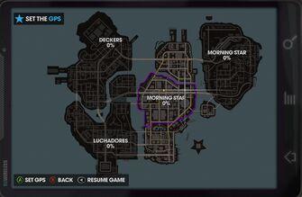 Map of Steelport in Saints Row The Third