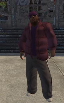 Saints male CutsceneFat - Black - character model in Saints Row